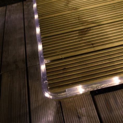 solar powered warm white led rope light