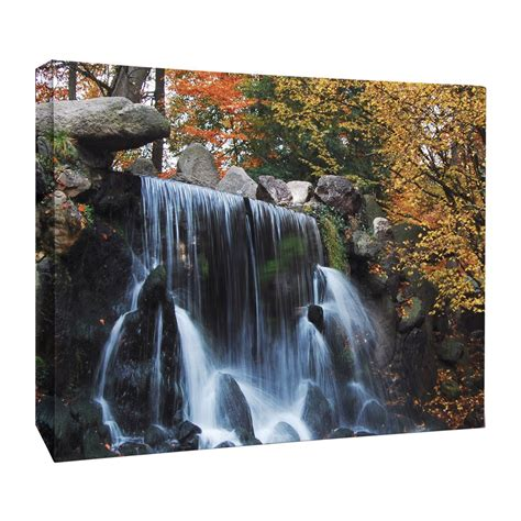 jp london lcnv2148 credit river rocky mountain waterfall gallery wrapped canvas art lowe s canada