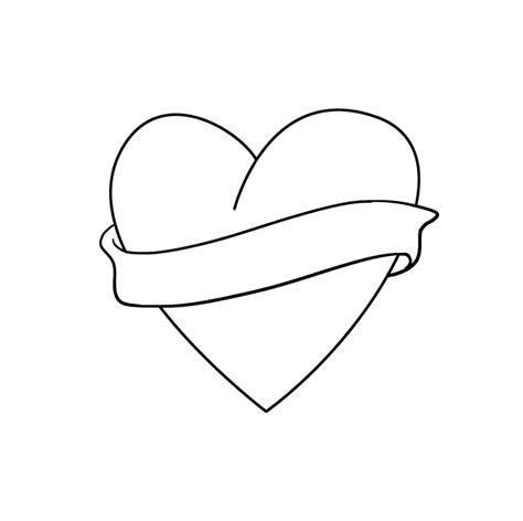 draw   love  heart  easy drawing