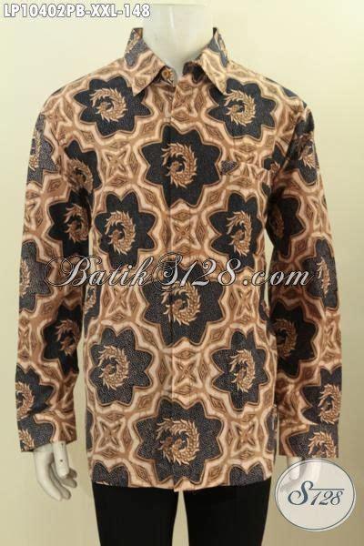 Kemeja Batik Lengan Panjang Bigsize jual kemeja batik big size hem batik pria gemuk 3l lengan panjang bahan adem motif klasik