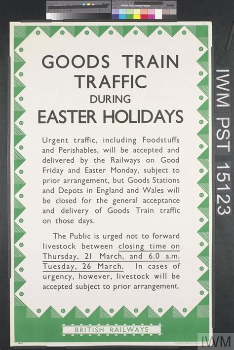 what to do during easter holidays goods traffic during easter holidays iwm pst 15123