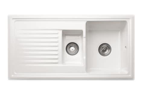 ceramic kitchen sink with drainer reginox overmounted ceramic sink with drainer 1 5 bowl