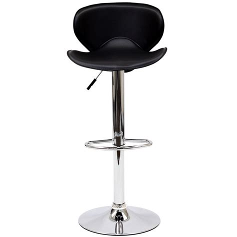 ergonomic bar stools booster modern ergonomic winged bar stool w chrome base