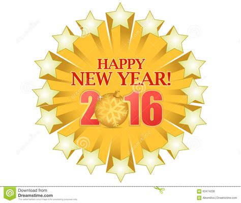 new year 2016 graphic design happy new year 2016 gold stock illustration image