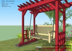 home garden plans sw100 arbor swing plans swing diy swing and arbor swing plans from from ana white s