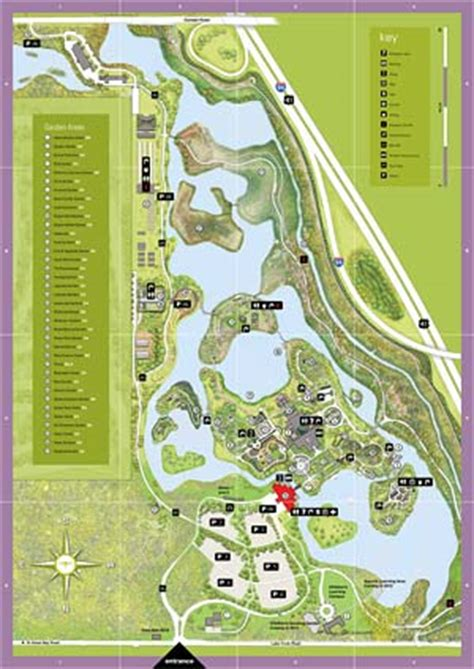 garden map chicago botanic garden