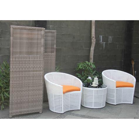 Kursi Rotan Biasa olivio kursi teras rotan sintetis white outdoor furniture