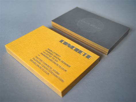 concrete business cards concrete business cards are duplexed 350gsm g f smith