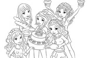 lego girls minifigures coloring picture with lego friends