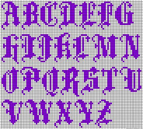 pony bead alphabet patterns a44161 friendship bracelets net