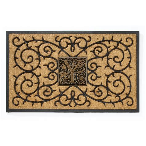 Personalized Mat by Whitehall Personalized Coir Monogram Mat