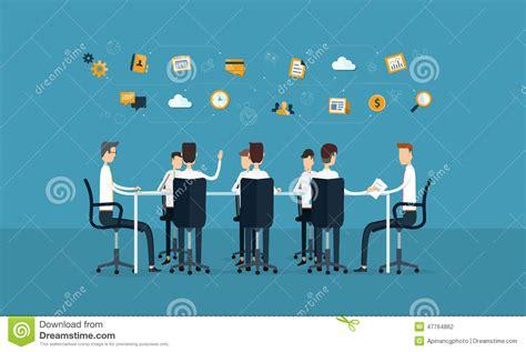 id馥 am駭agement bureau professionnel r 233 union de travail d 233 quipe d affaires de vecteur et