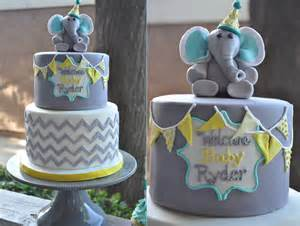 Elephant Baby Shower Cake by Elephant Cakes Thebakeboutique