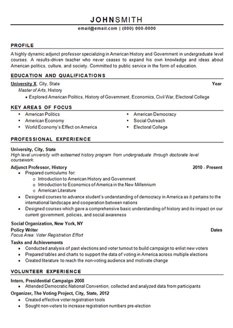 sle resume for faculty position faculty resume format 28 images adjunct professor