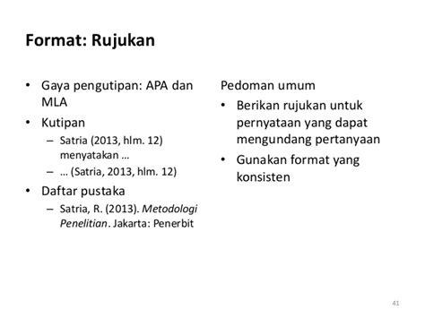 format apa rujukan tesis penulisan tesis dengan bahasa indonesia yang baik dan benar