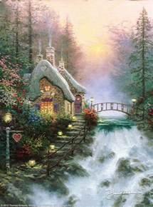 kinkade cottage painting sweetheart cottage ii by kinkade and painting