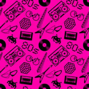 80s design 80s icons on hot pink fabric risarocksit spoonflower