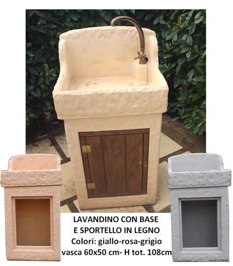 lavello in cemento crear arredo esterni e giardino vasche e lavelli