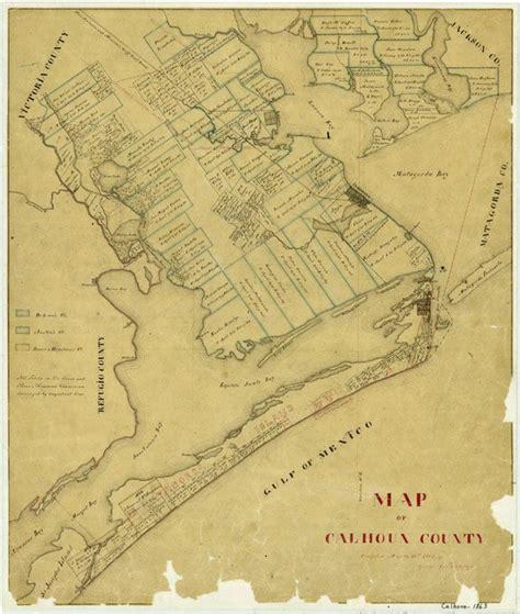 indianola texas map indianola texas artifacts 1863 map of calhoun county texas tejano chioning tejano
