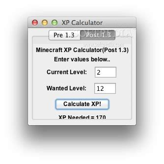 calculator xp download minecraft xp calculator mac 1 3