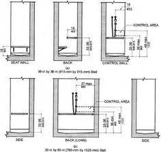 Bathroom Mirror Height Figure A Is An Elevation Drawing Showing Toe Clearance A Toilet Compartment Partition