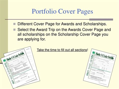 ppt florida 4 h portfolio i want to apply for a 4 h