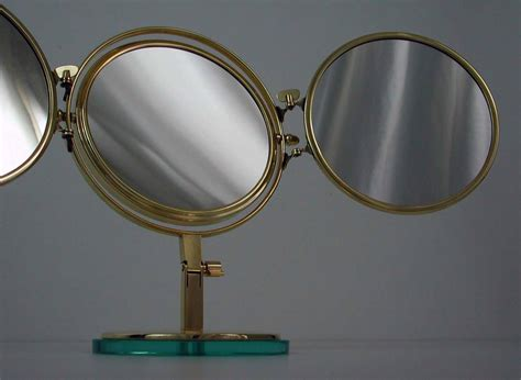 Vanity Folding Mirror by Mid Century Italian Brass Folding Vanity Table
