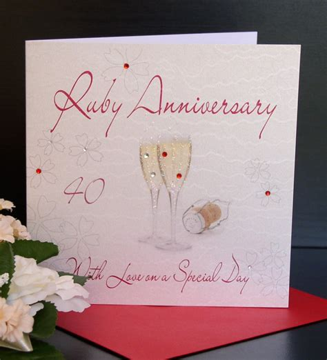40th anniversary gifts - Anniversary Gift Cards