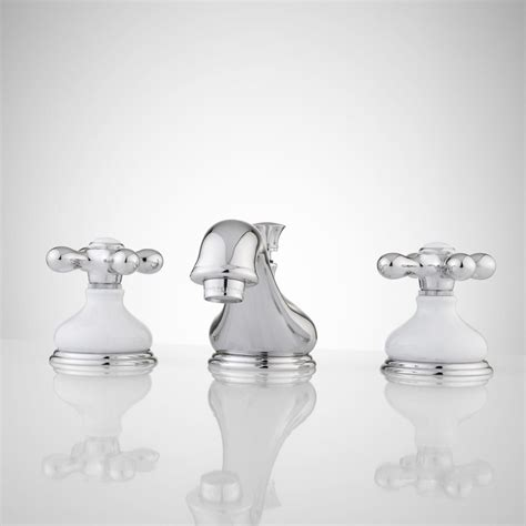 porcelain bathroom faucets tullamore widespread faucet porcelain escutcheons cross handles bathroom