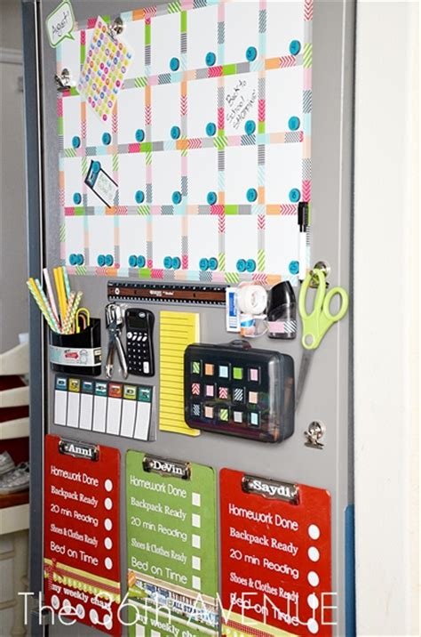 12 home organization stations to get organized diy tip junkie back to school cool homework stations and homeschool