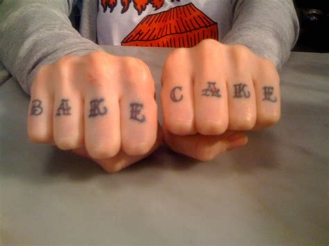 best knuckle tattoos best cake make that the best