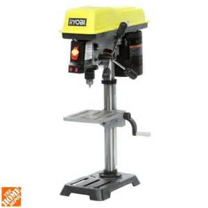 drill home depot ryobi 10 in drill press with laser dp103l the home depot