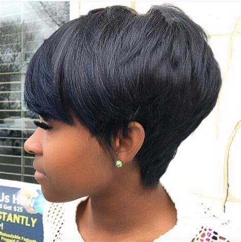 shortcut for black hair pretty and simple by loritheexlusivestylist black hair