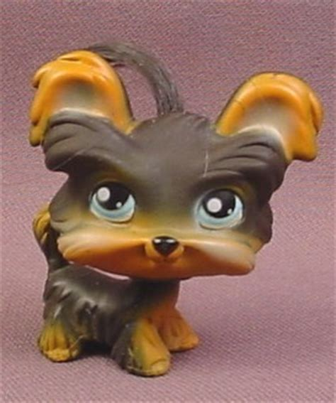 littlest pet shop yorkie littlest pet shop 141 brown yorkie terrier puppy with tuft of hair