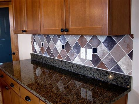 Painted Kitchen Backsplash Ideas Painted Backsplash With Faux Tiles Lots Of Exles Of Faux Quot Tiled Quot Backsplashes On This