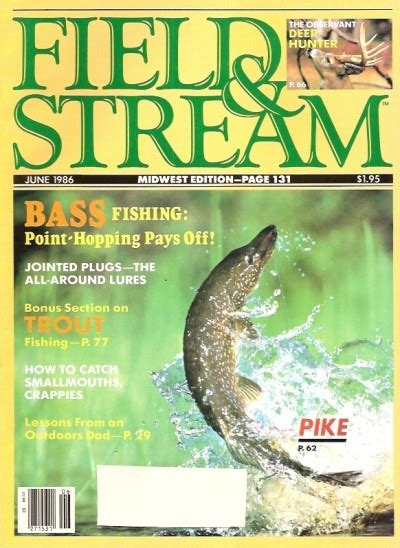 Field And Stream Gift Card - vintage field and stream magazine june 1986 like new condition