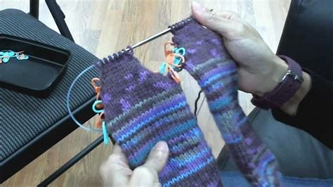 sock knitting needles circular toe up socks on circular knitting needles turning the