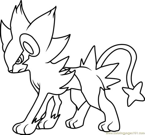 pokemon coloring pages luxray luxray pokemon coloring page free pok 233 mon coloring pages