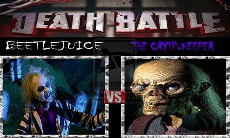 Tales From The Spector Crypt by Battle Beetlejuice Vs The Crypt Keeper By Artist