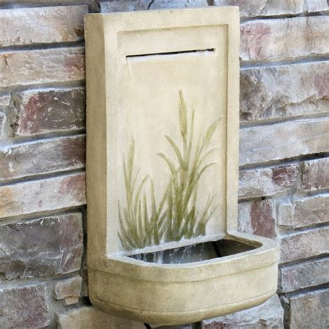 modern wall fountains outdoor outdoor wall the alexandria parchment