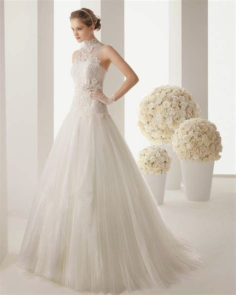 find elegant simple wedding dress 2014 column wedding