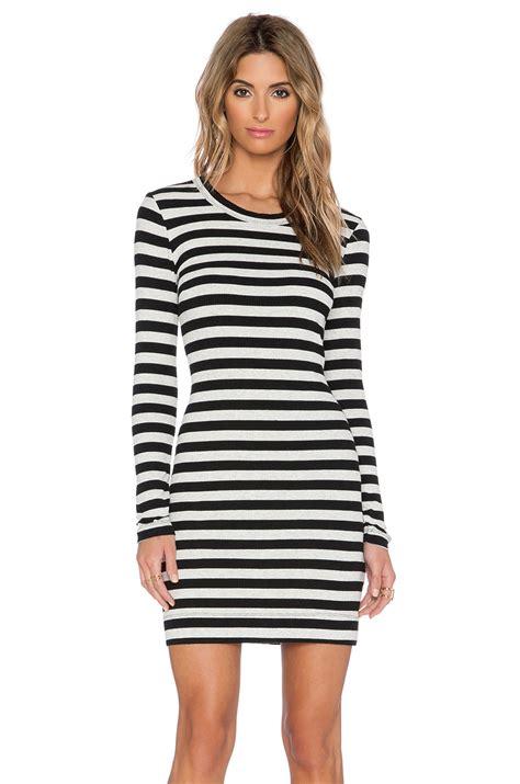 Sleeve Striped Dress lyst fifteen twenty sleeve stripe dress in blue