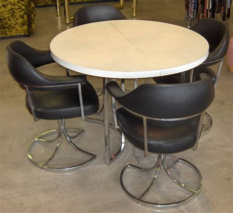 vintage chrome table and chairs retro vegas tables sold