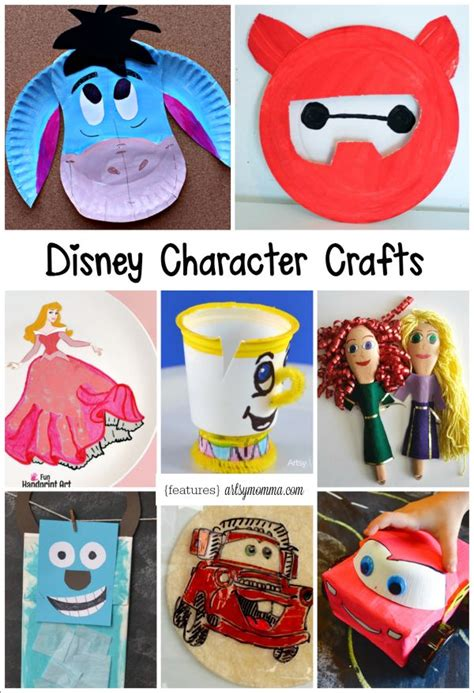 crafts disney disney character crafts made with items found in the