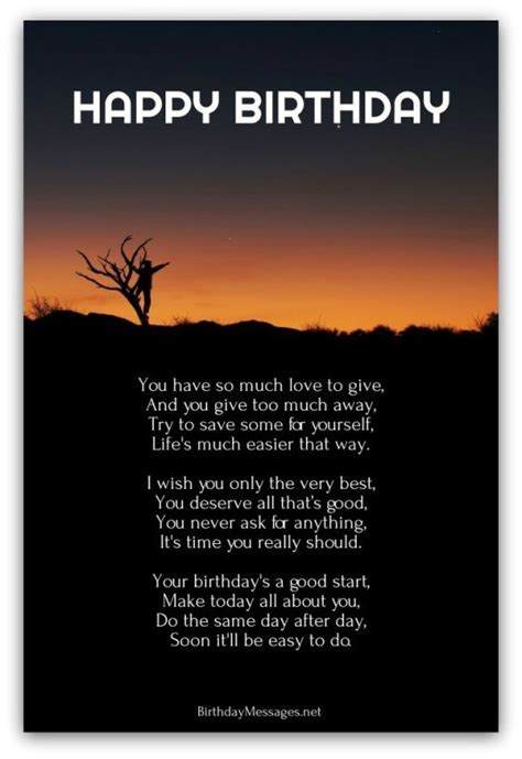 Positive Happy Birthday Wishes Inspirational Birthday Poems Page 3