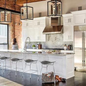 Bertoia Bar Stool With Seat Pad by Bertoia Style Chrome Bar Stool With Seat Pad Kitchen