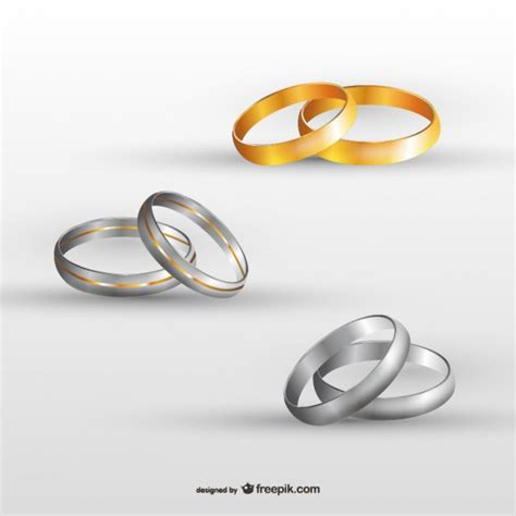 wedding rings set vector free