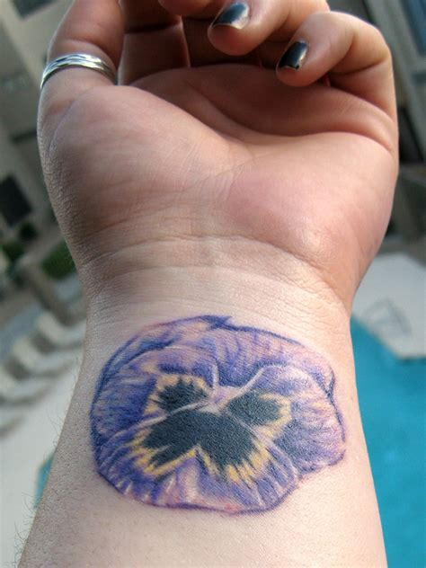 pansy tattoo flower tattoos designs and ideas for