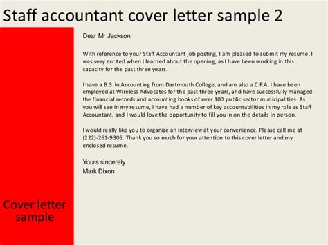 staff accountant cover letter exles staff accountant cover letter