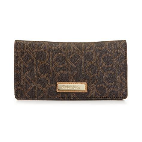 calvin klein ck wallet calvin klein monogram wallet in brown lyst